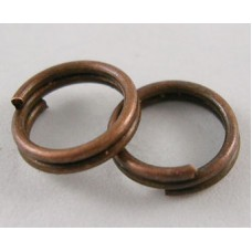4mm Double Split Rings - Red Copper