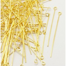 Gold Plated Eye Pins -  Mixed Sizes from 14-50mm long