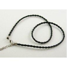Braided Imitation Leather Cord - Necklace Findings