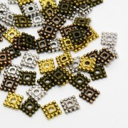 7mm Tibetan Style SQUARE Bead Spacer - MIXTURE