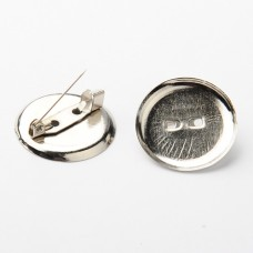 24mm Round Cabochon Frame Setting Brooch