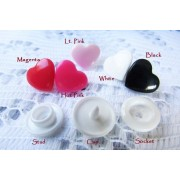 KAM HEART Snap Buttons Size 20 (12.4mm) - 5 colours available