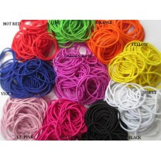 2.5mm Metal Free Hair Ties or Ponytail Holder  - 10 colours available