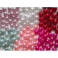 10mm Flat Back Faux Pearl - 6 colours available