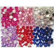 10mm Flat Back Acrylic Rhinestone - 6 colours available