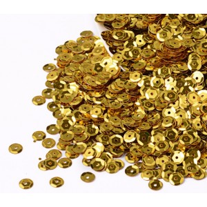 Plastic Paillettes Sequins -  Gold