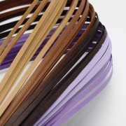 Paper Quilling Strips - Purple Series