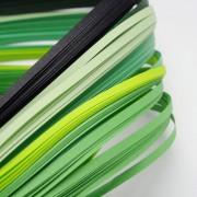 Paper Quilling Strips - Green Series