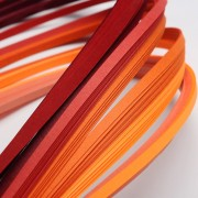 Paper Quilling Strips - Red Series