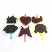 Mini Blackboard Pegs - 6 Designs