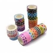 15mm Japanese Printed Washi Tape - 5 ROLLS (5metres/roll)