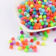 6mm Fluorescent Acrylic Beads - MIXTURE