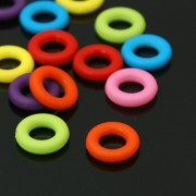 10mm Acrylic Ring Links - Mixed