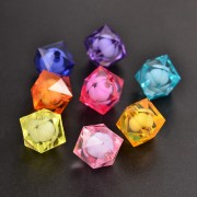 16mm Faceted Acrylic Cube Beads - MIXTURE