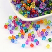 6mm Faceted Bicone Crystal Beads - Mixed