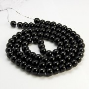 4mm Glass Pearl Imitation Beads - BLACK
