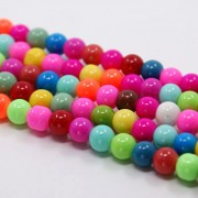 8mm Neon Glass Beads - Mixed Colours