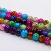 8mm Molted Glass Beads - Mixed Colours