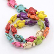 Natural Howlite Beads - Tortoise
