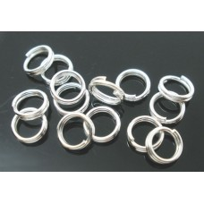 10mm Double Split Rings - Silver Plated