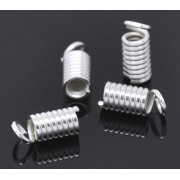 1.8mm Spring Ends Cord Tips - Bright Silver