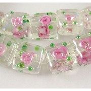 12mm Square Normal Lampwork Beads