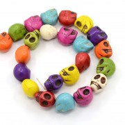 Synthetic Turquoise Beads - Skull