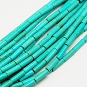 Synthetic Turquoise Column Beads