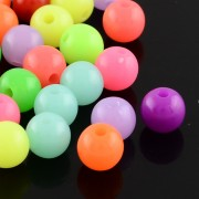 16mm Flourescent Acrylic Beads - MIXED