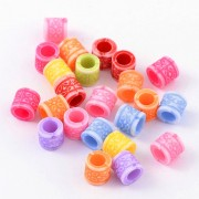 8mm Acrylic European Beads  - Mixed