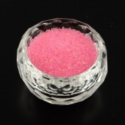 0.6 - 0.8mm Mini Glass Beads - Hot Pink