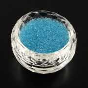 0.6 - 0.8mm Mini Glass Beads - Blue