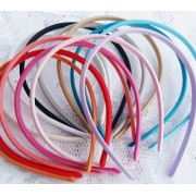 7mm Satin Covered Plastic Headband