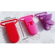 25mm Plastic Suspender clip - 3 colours available