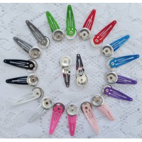 Snap Clip w/ 23mm Self Cover Button attached - 8 colours availble