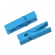 35mm Wooden Clothespin Clips / Pegs - BLUE