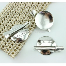 Alligator with Brooch Pin Back - Silver Plated