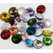 14mm Glass Pointed Back Faceted Rhinestone
