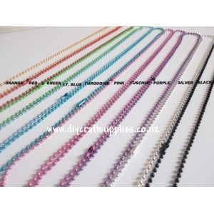 Coloured Necklace Ball Chain - 10 colours available