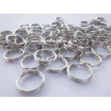 16mm Double Split Rings - Nickel Colour