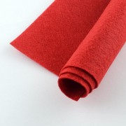 300mm x 200mm x 2mm Felt Sheets - Crimson