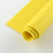 300mm x 300mm x 1mm Felt Sheets - Yellow