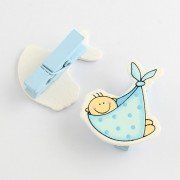 "Baby Shower Party ""BABY"" Pegs - 6PCS/Card"