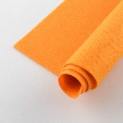 300mm x 300mm x 1mm Felt Sheets - Dk. Orange