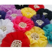 "3.5"" Vintage Chiffon Flowers - 8 colours available"