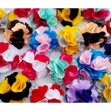 """2"""" Two Tone Satin Combo Flowers - 10 colours available"""