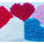 "5"" Chiffon Heart Rosette - 6 colours available"