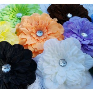 """4"""" Peony Fabric Flowers - 14 colours available"""