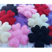 4.5CM Padded Heart Petals Flowers - 5 colours available