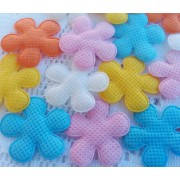 3.5cm Padded Flowers - 5 colours available